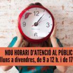 Nou horari d'atenció al públic El Galliner